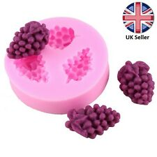 3D 3 x Mini Grape (Grapes) Silicone Mould for Cake Icing Decoration Fruit