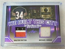2019 Leaf ITG Walter Payton/Michael Jordan Dual Game-Used Jersey Card #10/10