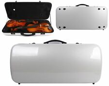 Double Violin Case Mixed Carbon Fiber Case Adjustable Size For Violin Viola