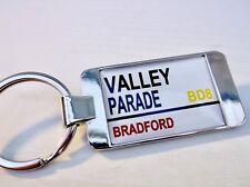BRADFORD STADIUM BADGE STREET ROAD SIGN KEYRING KEY FOB KEYFOB CHAIN GIFT