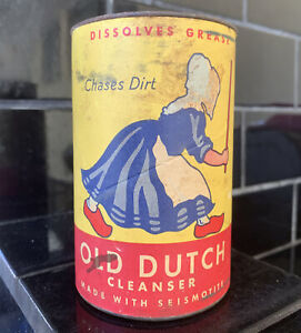 OLD DUTCH CLEANSER EARLY VINTAGE AUSTRALIAN TIN