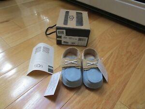 NIB Ugg Australia Baby Boy Shoes Loafers Size Medium 4/5 12-18 Months