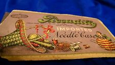 Piccadilly Needle Case & Needles Vintage Sewing
