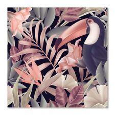 Acrylic Wall Art Print Painting Hanging - Jungle Pastel 80x80cm