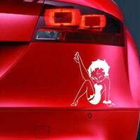BETTY BOOP  Sticker Funny Car JDM DUB 4x4 Window Bumper Novelty Vinyl Decal v2