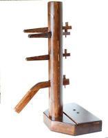 Wing Chun Wooden Dummy Walnut Color With Form And Cover