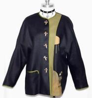 "SALZBURGER ~ BLACK LINEN Austria Women SUMMER Dress JACKET Coat/B 42""/40 12 M"