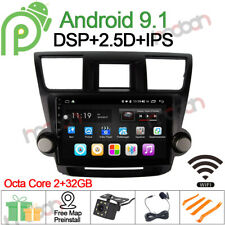"10"" IPS Android 9.1 Car Stereo GPS NAV for Toyota HIGHLANDER 2008~2014 Radio DSP"