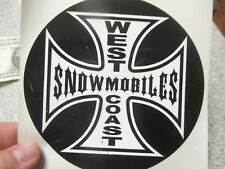 10 Qty WEST COAST SNOWMOBILES bumper stickers wholesale novelty snowmobiling lot