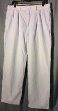 Ralph Lauren Polo Golf seersucker blue/white striped pants 34-32