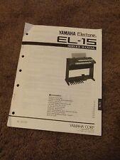 Yamaha Electone Organ EL-15 Service Repair Manual Schematics Parts List Keyboard