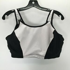 Glamorise Women's Black and White Sports Bra Size 42DD