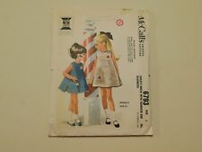 VINTAGE 1963 McCALL'S SEWING PATTERN 6793 CHILD'S DRESS WITH TRANSFER & BLOOMERS
