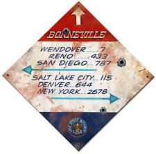 Vintage LSA Bonneville Distance Metal Sign Race Man Cave Garage Barn Shop FRC101