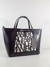 BORSA DONNA ARMANI EXCHANGE WOMAN SHOPPER BAG ALL-OVER BICOLOR  COLL. P/E 2020