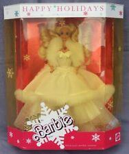barbie HAPPY HOLIDAYS joyeux noel 1989 Mattel 3523 boite abimée poupée blonde