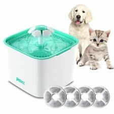 Pet Fountain Cat Dog Water Dispenser with Pump and 4 Replacement Filters - He...