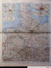 Landkarte Nordwesten Deutschland, Schleswig Holstein, Hannover, Oldenburg, 1942