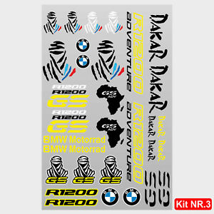 Kit adesivi vari BMW R1200GS Adventure scritte r1200 gs tuareg dakar africa M.3