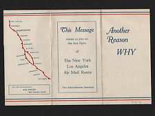 OPC 1930 Harrisburg PA 1st Flight Transcontinental Air Mail Advertising Brochure