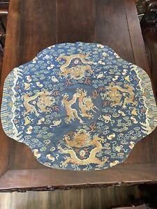 Antique Chinese Qing Dynasty Dragon Silk Robe  China Asian