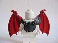 Custom Armor & BAT WINGS (Dark Red) for Custom Minifigures -Devils Demons Castle