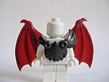 Custom Armor & BAT WINGS (Dark Red) for Lego Minifigures -Devils Demons Castle
