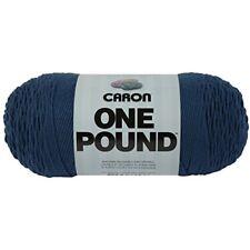 Caron One Pound Solids Yarn - (4) Medium Gauge 100% Acrylic - 16 Oz - Ocean- -
