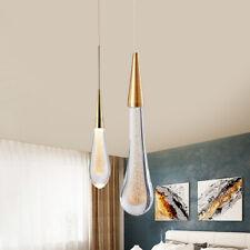 Modern Rain Drop LED Crystal Chandelier Pendant Light Ceiling Lighting Gold fast