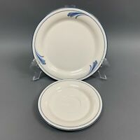 Lenox Chinastone Brushstrokes For the Blue Patterns Salad Saucer Plates Lot of 2