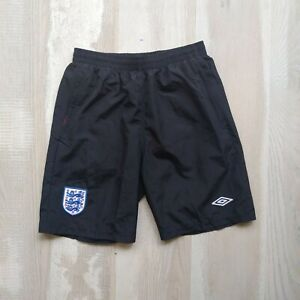 England Team Training Shorts With Pockets Black Umbro Polyester Young Size XL