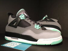 2013 Nike Air Jordan IV 4 Retro GS CEMENT COOL GREY GREEN GLOW BLACK WHITE 5Y 5