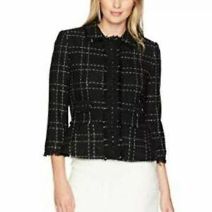 Ivanka Trump Plaid Gemstones Tweed Blazer 16 NWTs