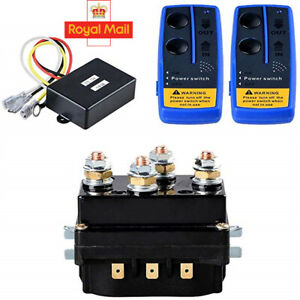 12v HD Contactor  winch control solenoid Wireless Remote Suit recovery 4x4