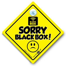 Sorry Black Box Car Sign, Baby On Board Style Suction Cup Sign Black Box Fitted