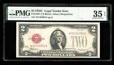 DBR 1928-C $2 Legal STAR Fr. 1504* PMG 35 EPQ Serial *01104991A