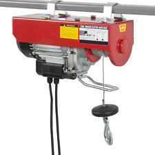 1100LB Mini Electric Wire Hoist Remote Control Garage Auto Shop Overhead Lift