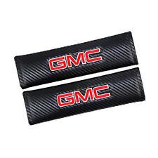 2x Black Fiber Car Seat Belt Cover Shoulder Pads SIERRA YUKON DENALI Carbon