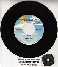 "ELTON JOHN Goodbye Yellow Brick Road 7"" 45 rpm record + juke box title strip NEW"