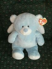 "Ty Pluffies 8"" LITTLE ANGEL (BLUE Bear) *Sewn eyes* MWMT * RETIRED *RARE* TyLux"