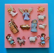 NATIVITY SET CHRISTMAS SILICONE MOULD FOR CAKE TOPPERS, CHOCOLATE, CLAY ETC