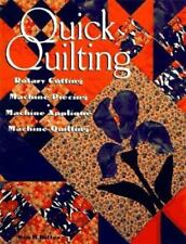 Quilt Instruction Pattern Book-Quick Quilting-Rotary Cutting-Machine Quilting