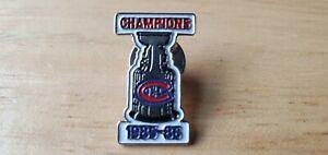 Montreal Canadiens Stanley Cup pin 1985-1986 Habs Patrick Roy hat tie lapel 8586