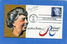 Sc #2105 Eleanor Roosevelt Goldberg Hand Painted Cachet First Day Cover