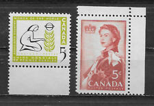 CANADA , 1959 , SET OF 2 STAMPS , MNH
