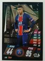 2020/21 Match Attax UEFA - Kylian Mbappe Silver Limited Edition LE8S PSG
