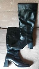 Bisou Bisou Tall Boots with side zipper - Black Leather - Women's sz 10