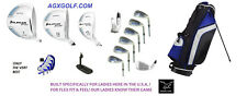 LADIES 14pc COMPLETE AGXGOLF ARIA GOLF SET wDRIVER+3 WD+HYBRID+IRONS+BAG+PUTTER