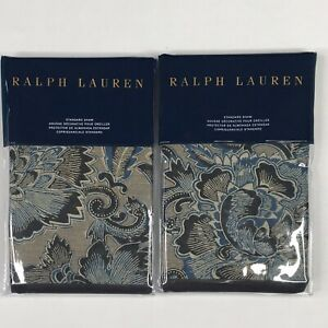 "Ralph Lauren Journey's End Navy STANDARD Sham Rainey Set of 2, 20"" x 28"""