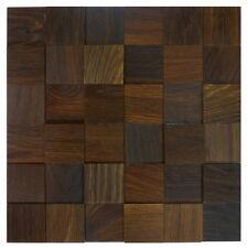 3D Wandverkleidung aus Holz-Matten | Eiche tabak wodewa Holzwand Wandgestaltung
